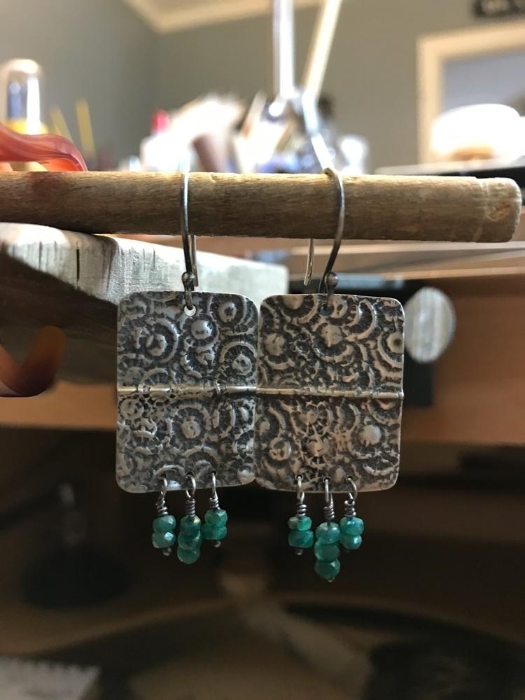 Working earrings, pair hand tex - robinbaskindesigns | ello