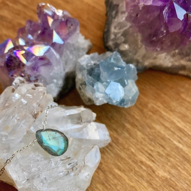 Labradorite Sterling Silver nec - intrinsicjourneysjewelry   ello