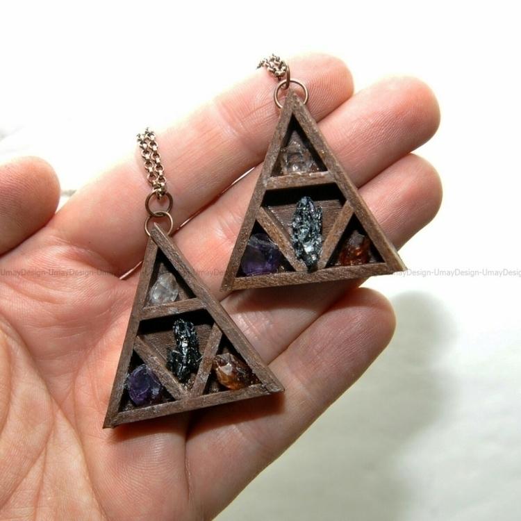 * Handmade Wooden Pendant Ameth - umaydesign | ello