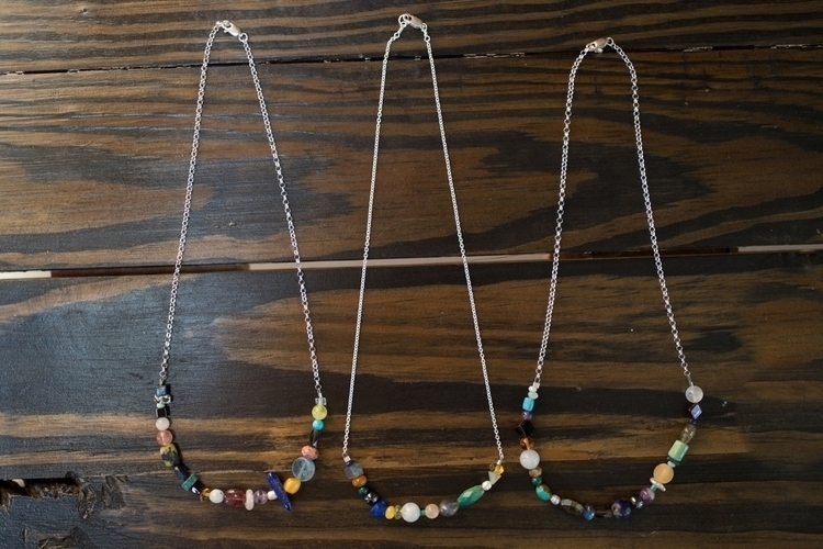 Mixed gemstone + sterling silve - northcroftstudio | ello