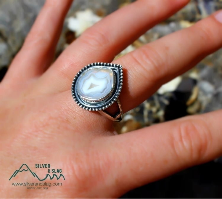 Malibu Banded Agate set Sterlin - silverandslag | ello