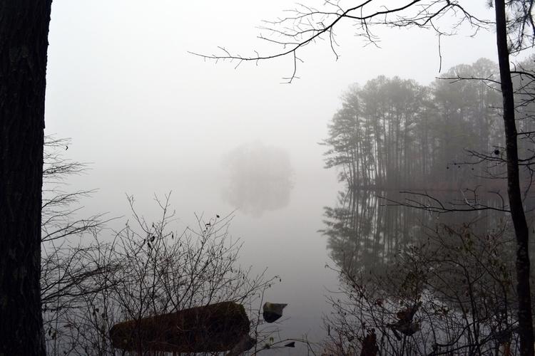 Fog reflection Stone Mountain,  - drewsview74 | ello
