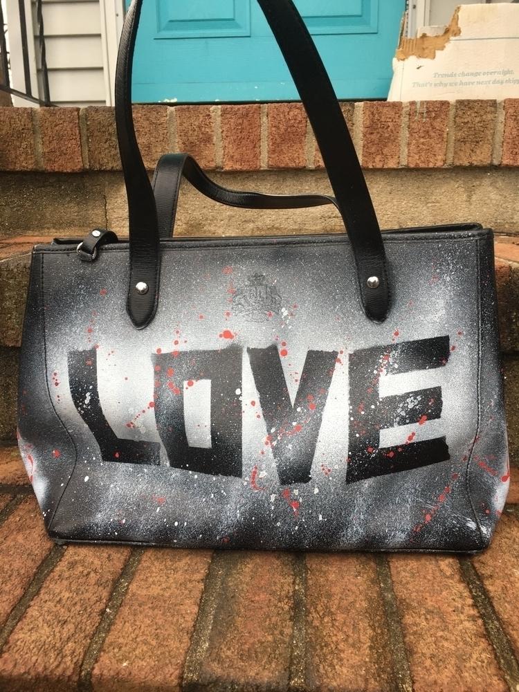handpainted, handpaintedhandbags - skyravin | ello