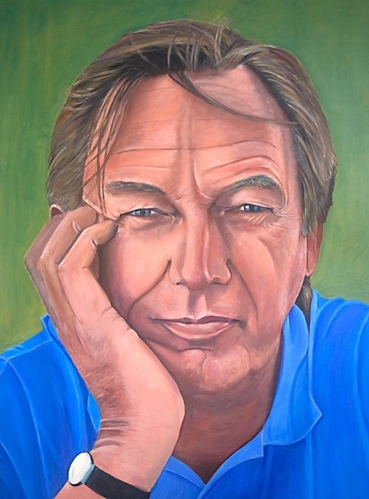 portrait John acrylic canvas 16 - marjon-4891 | ello