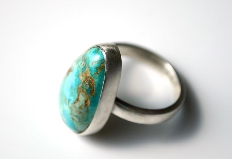 Natural Turquoise Ring - fresh  - mineralrare | ello