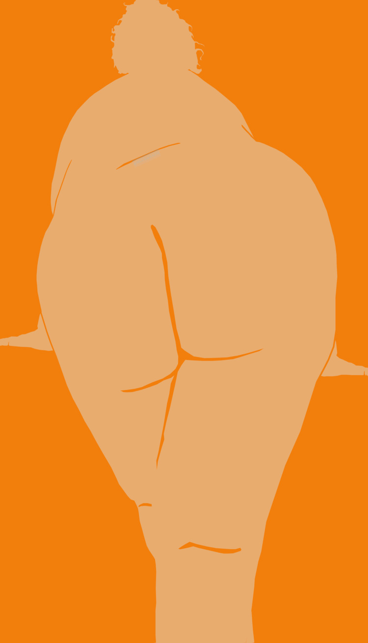 Curves - Fat, Woman, Orange, Draw - blueanath | ello