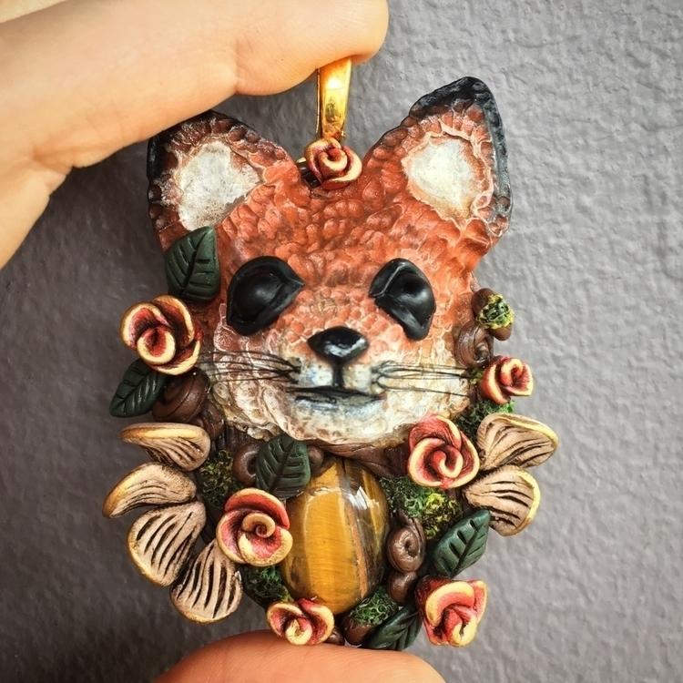 kind fox pendant sold favorite  - earthlustdesigns | ello