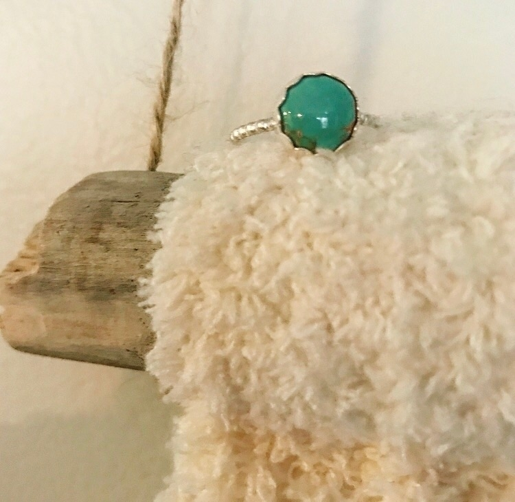 Baby Turquoise stacker ring! So - mysticvalleyjewelry | ello