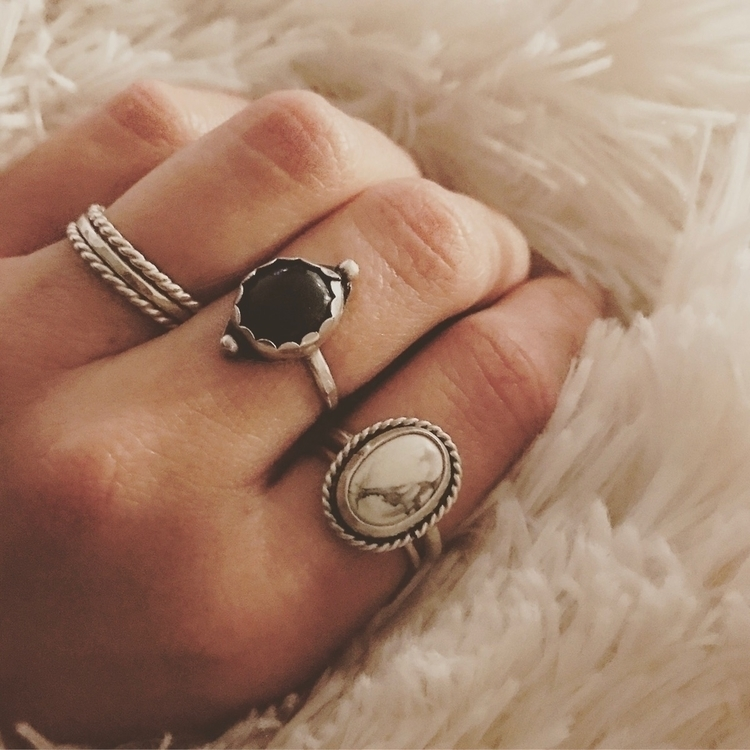 Silver, Bloodstone Howlite :rel - mysticvalleyjewelry | ello