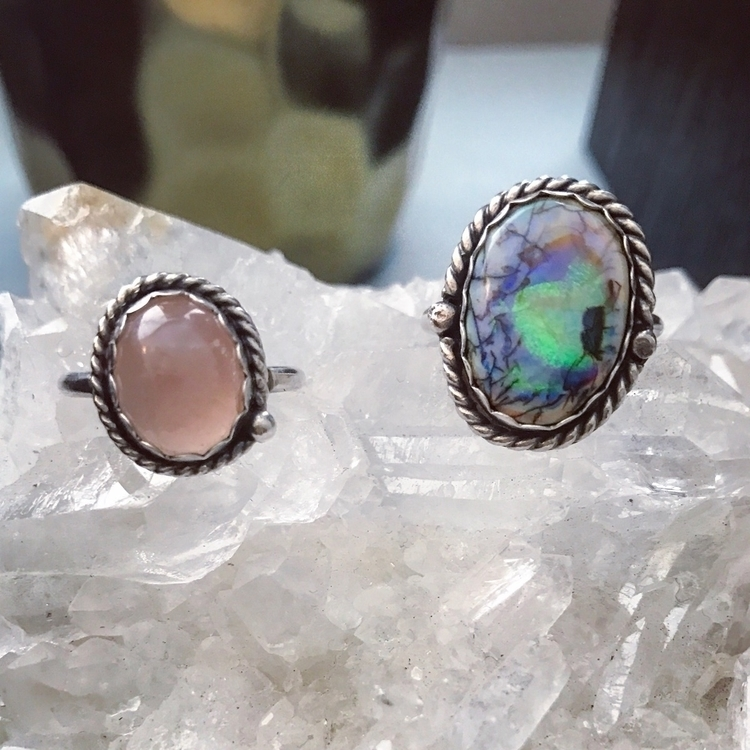 Rose Quartz Galaxy Opal - mysticvalleyjewelry | ello