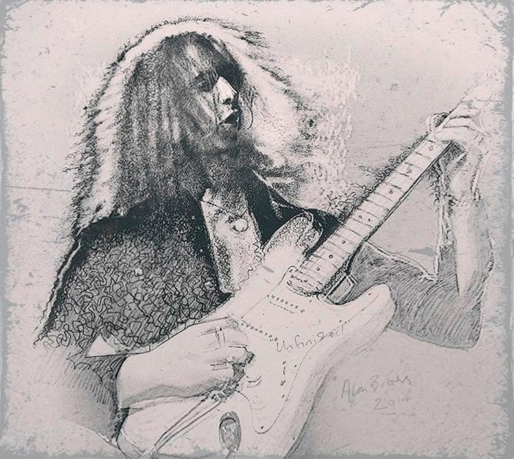 Ritchie Blackmore - Deep Purple - alanbrooksart | ello