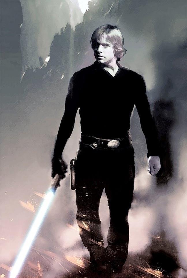 Luke Skywalker preliminary stud - alanbrooksart | ello
