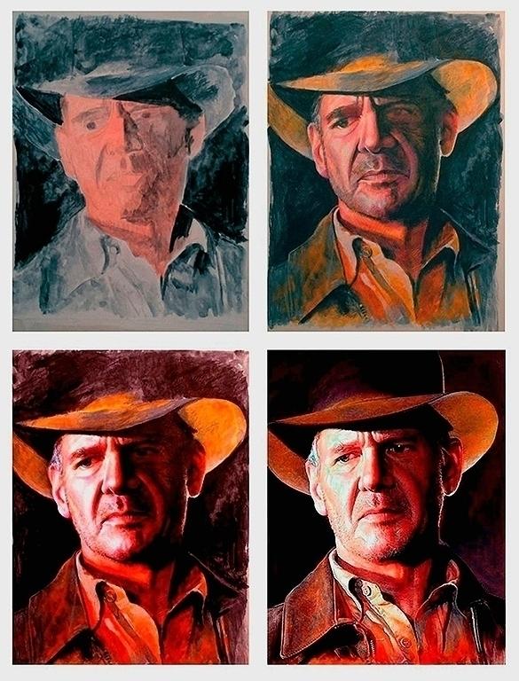 4 step oil painting - Indiana J - alanbrooksart | ello