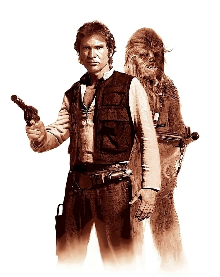 Star Wars - Han Solo, Chewbacca - alanbrooksart | ello