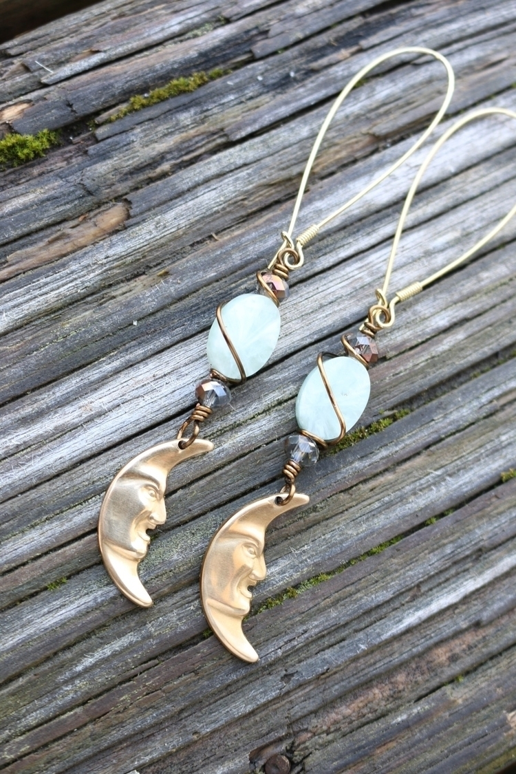 Amazonite beads brass charms - amazonite - emmandflow | ello
