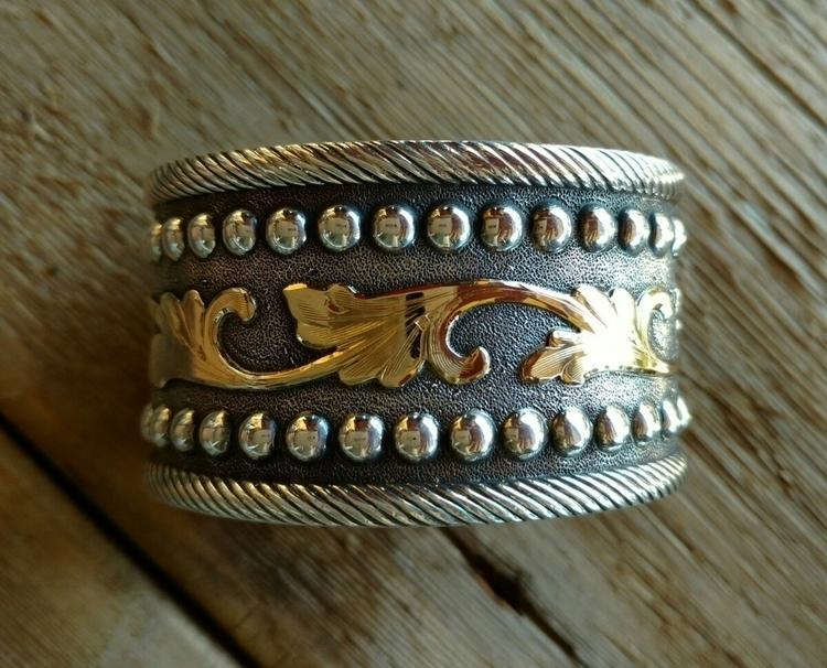 Sterling silver cuff style brac - michaelvolponesilversmithing | ello