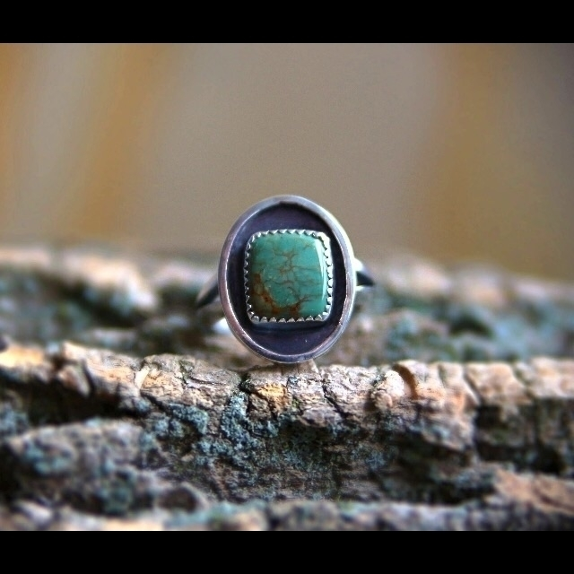 turquoise ring listed shop - neshikotjewelry | ello