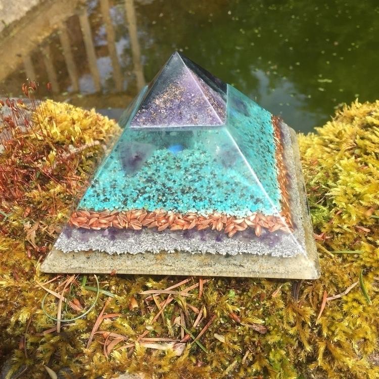 large Orgonite Pyramid full Flu - authenticorgonite | ello