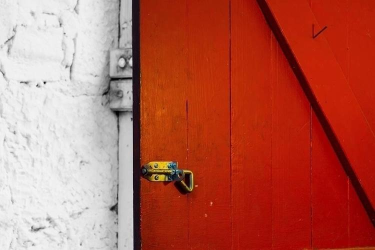 Red door - photography, Olympus - canuckinoz | ello