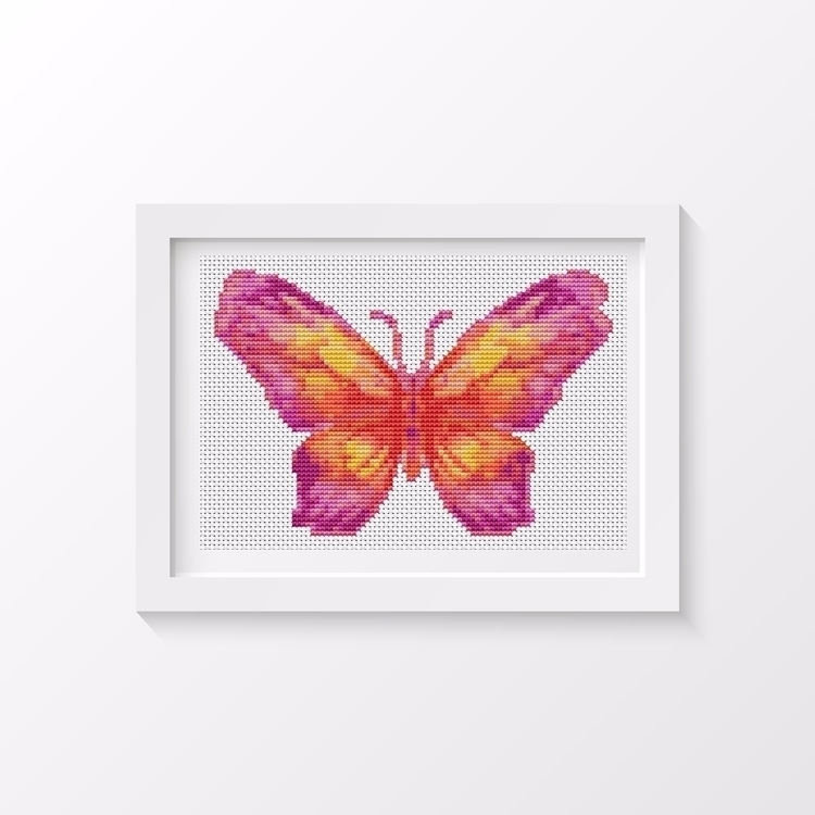 Butterfly Series: Sunset MINI C - theartofstitch | ello