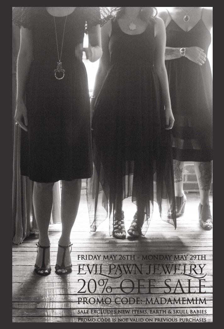 20% weekend promo code MadameMi - evil_pawn_jewelry | ello