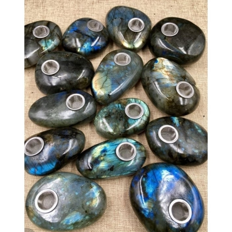 Labradorite Peace Pipes Coming  - elementscollide | ello
