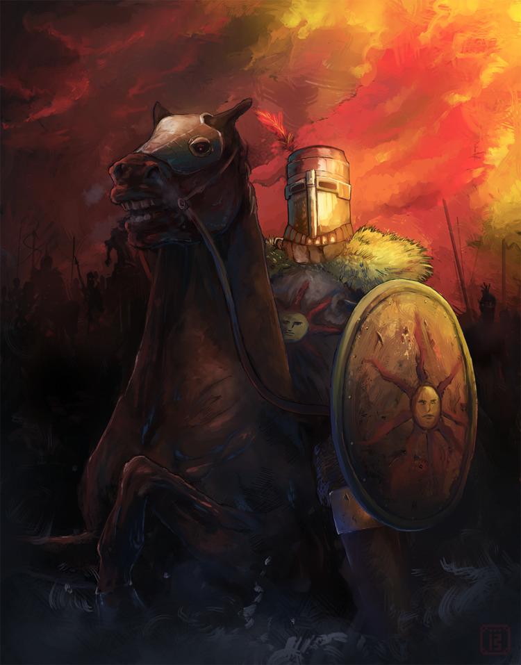 Knight Solaire Astora sun wondr - malthus_wolf | ello