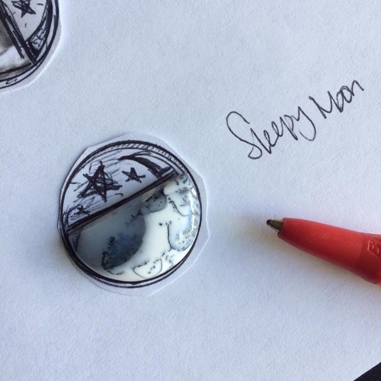 moon dendritic opal - metalsmith - littlecrownbenchmade | ello