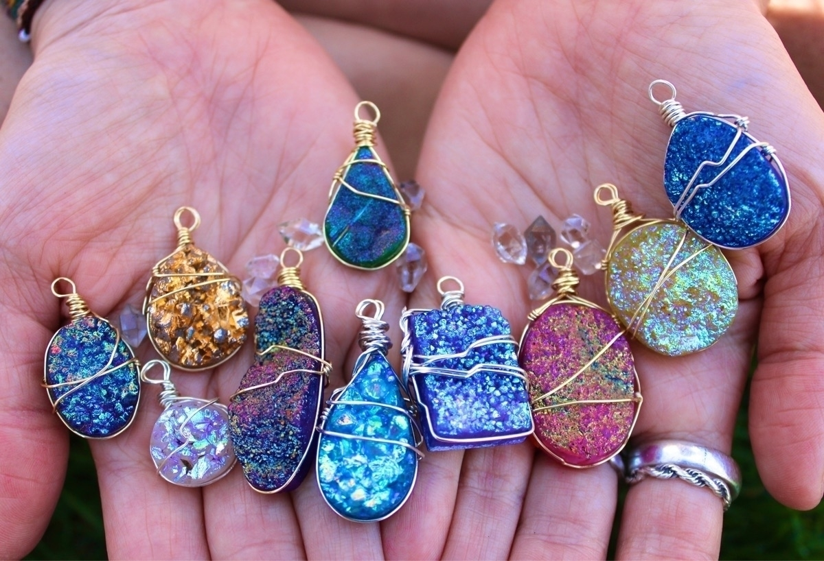 Wire wrapped druzy babies liste - sunchildsoul | ello
