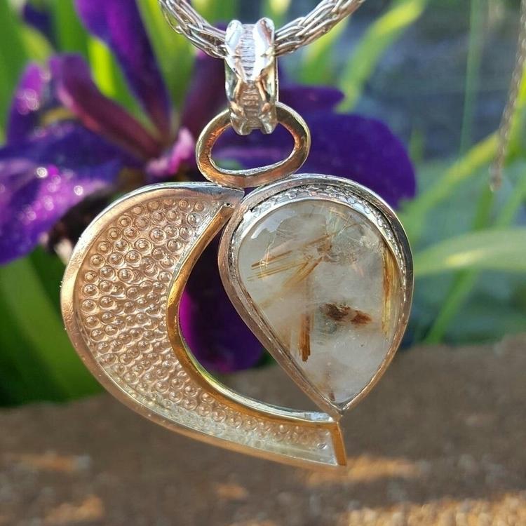 Heart. Rutilated quartz mixed m - caiazza_creations | ello