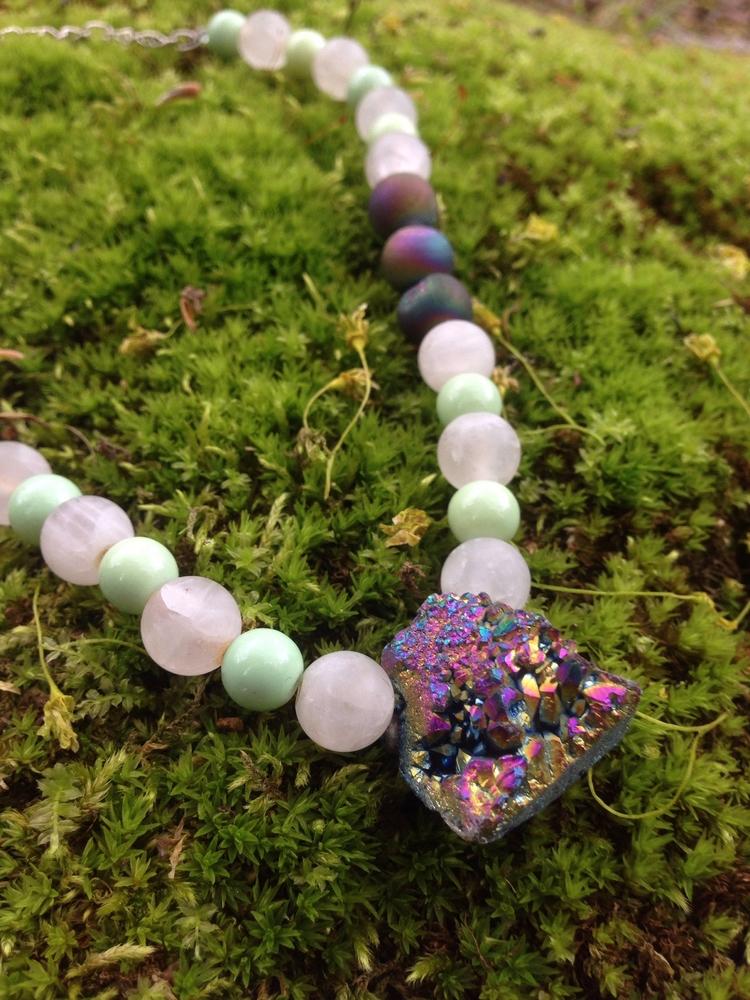 shimmery pendant paired minty g - elishaz | ello