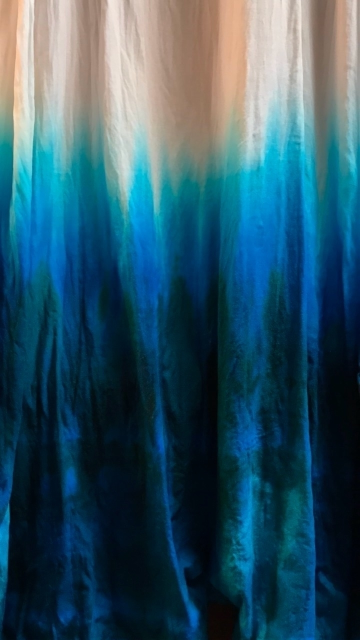 Bahama Blue Jade Dip Dye light  - tiedyemama | ello