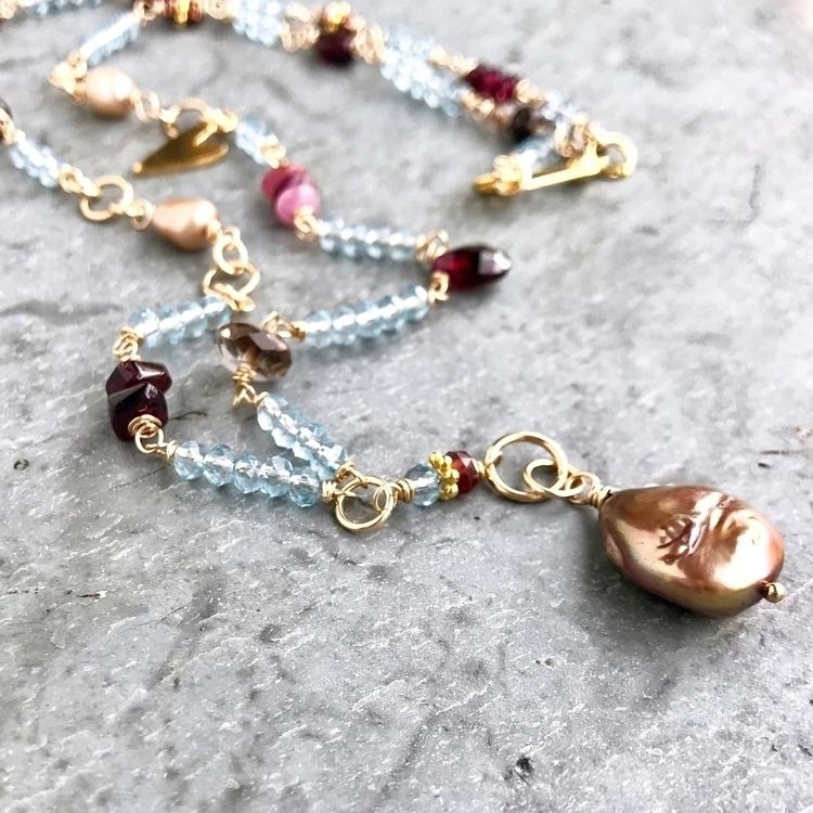 Garnets, pearls lush romantic n - alaskadaisyrocks | ello