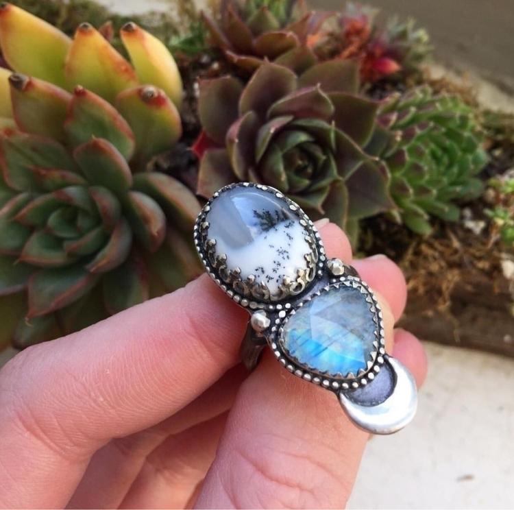 Dendritic Opal Rosecut Moonston - moonshinedivine | ello