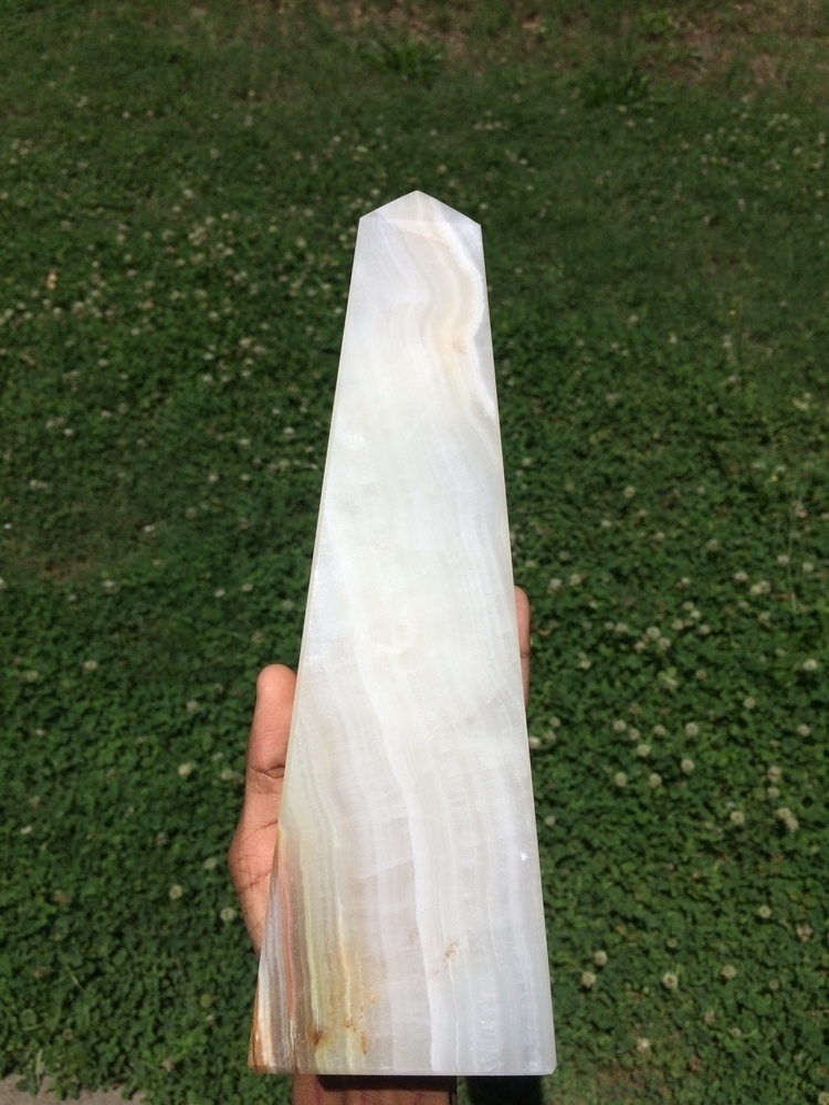 HUGE multi-calcite obelisk shop - dreamergemstones | ello