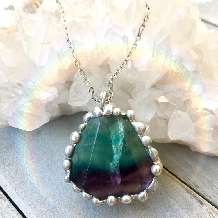 Shop Update: Fluorite Pendant s - crystalhabitats | ello