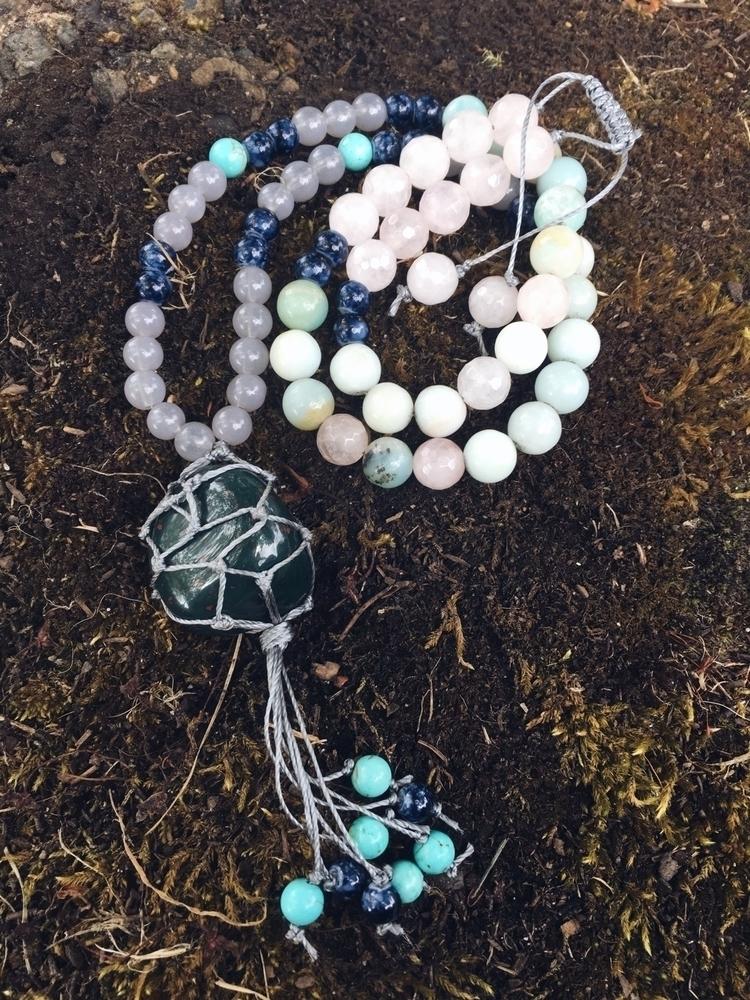 macrame stone wrap! glass bead  - gypsyxjewels | ello