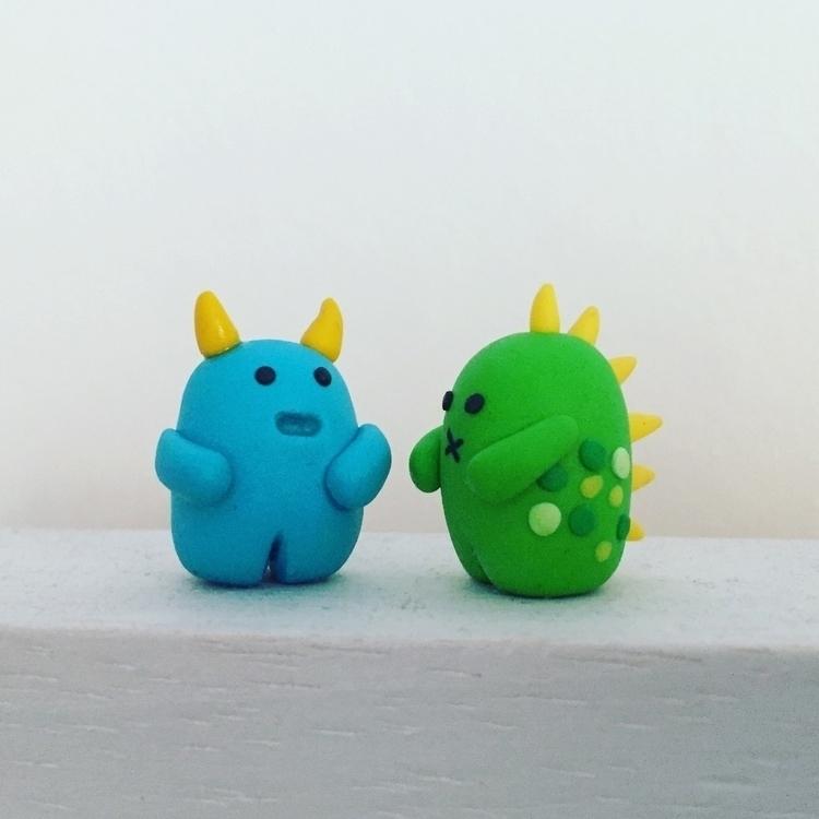 Chubby monsters, 2 cm tall - hugsandsparkles - hugsandsparkles | ello