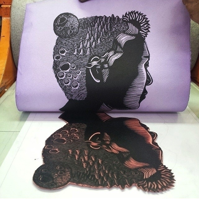 Printing purple hand-dyed handm - killchoy | ello