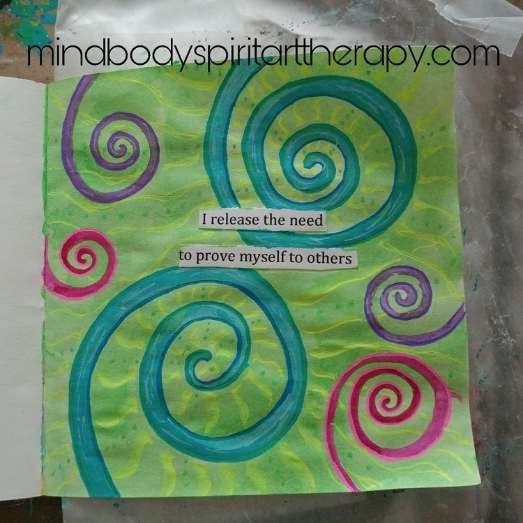 worthy - artjournaling, artjournal - mindbodyspiritarttherapy | ello