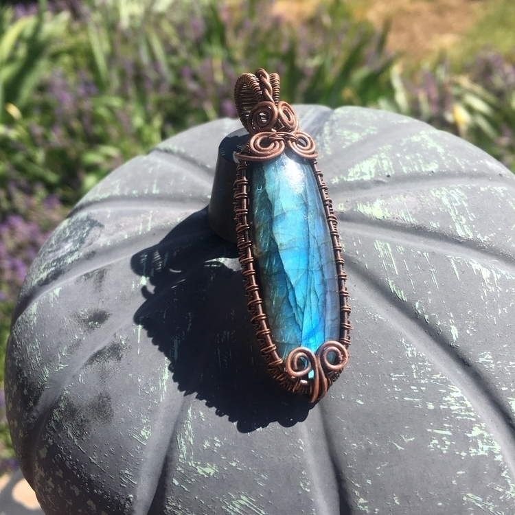 Flashy labradorite pendant sale - creationsbycass | ello