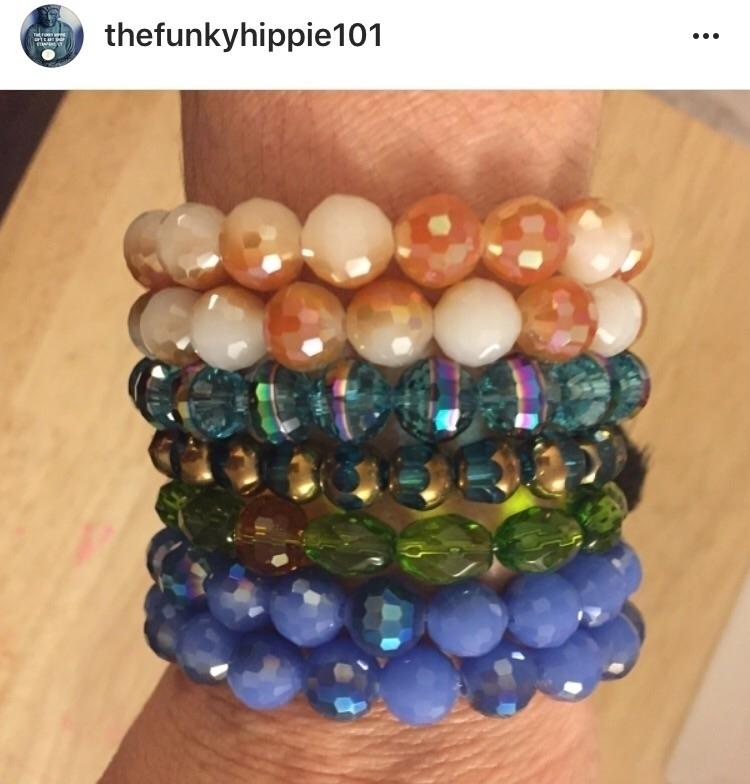 Mala, armcandy, crystals, supportthehandmadehustle - thefunkyhippie | ello
