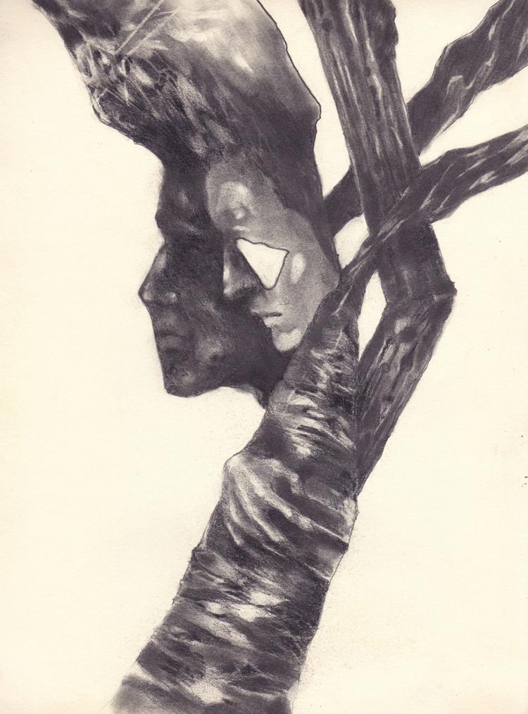 A4 pencil sketch left hand draw - nottakeiron | ello