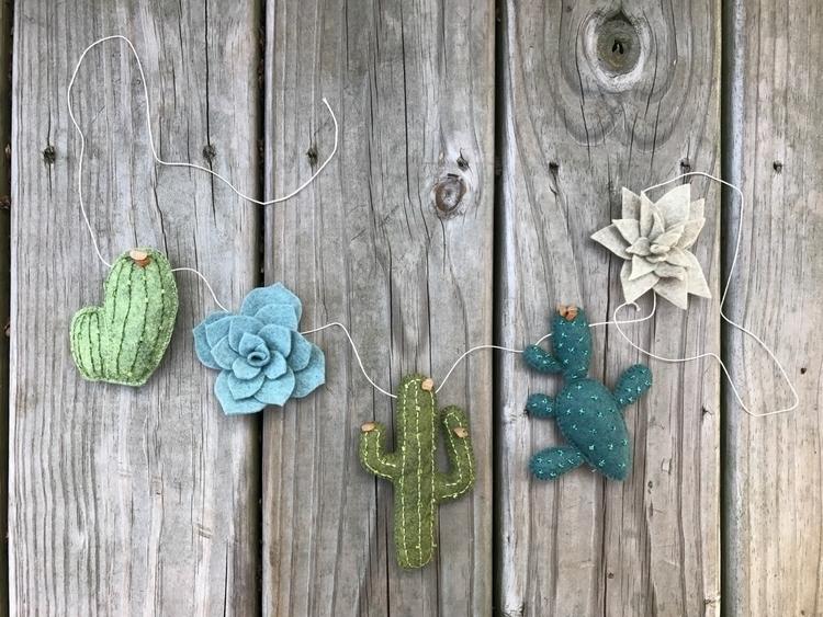 Handcrafted wool felt cacti orn - mymriyalife | ello
