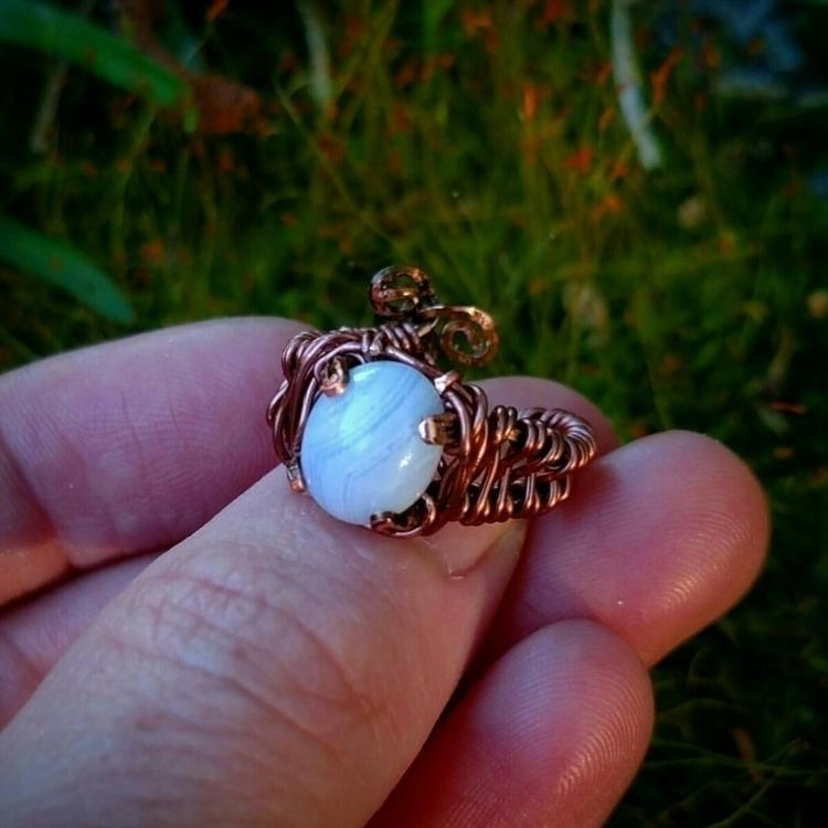Beautiful blue lace agate pinky - artfuloriginations | ello