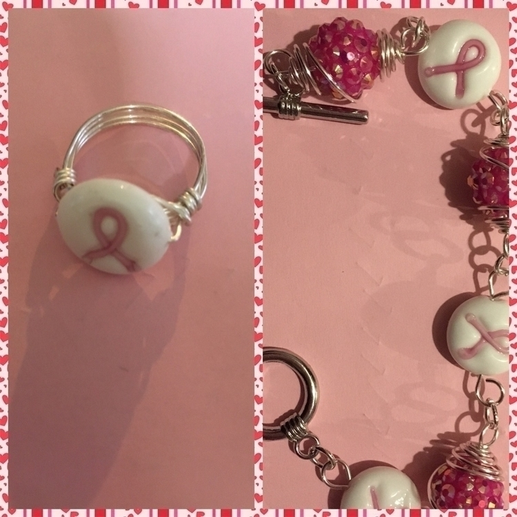 Breast Cancer Awareness Bracele - keeleykreation | ello