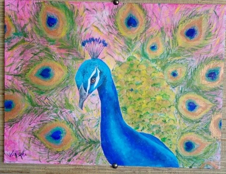 Peacock acrylic - parliament_art   ello