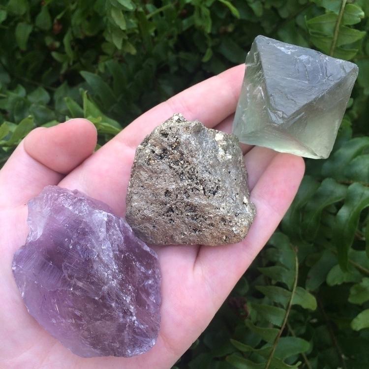 Rough Crystal Amethyst, Pyrite  - crystalphase | ello