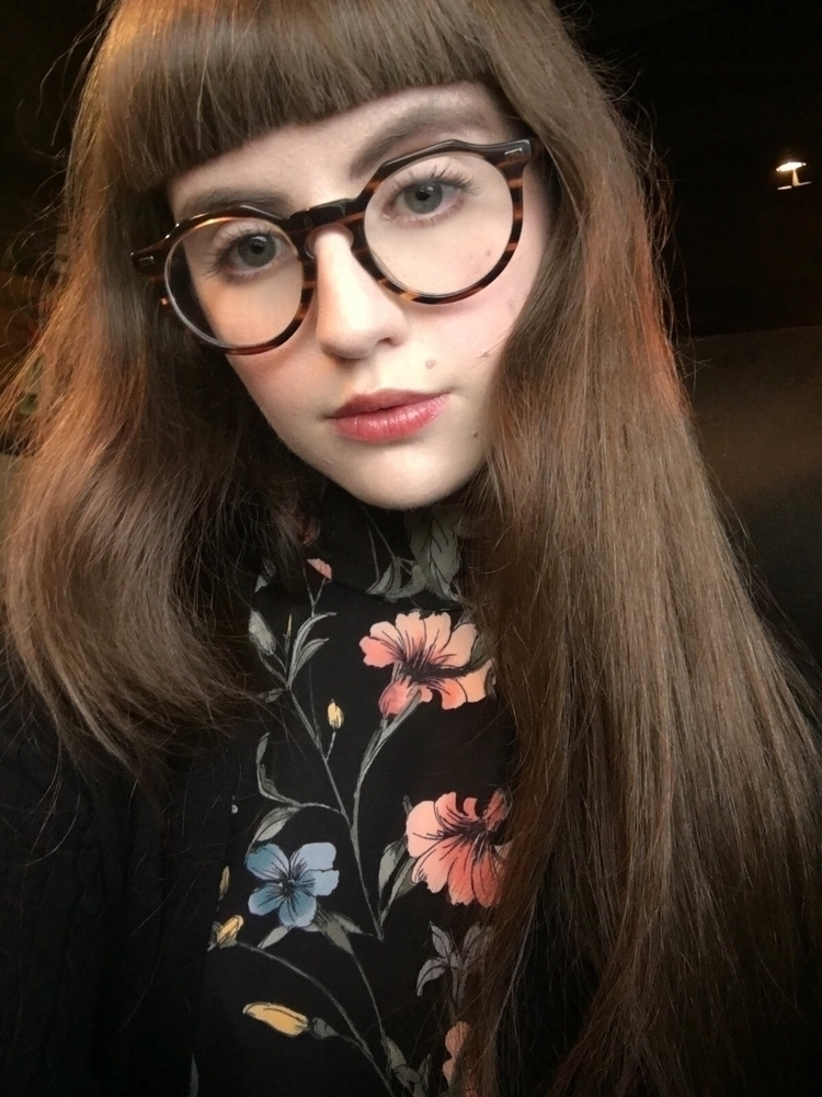 glasses, model, fringe, floral - iambrooketaylor | ello