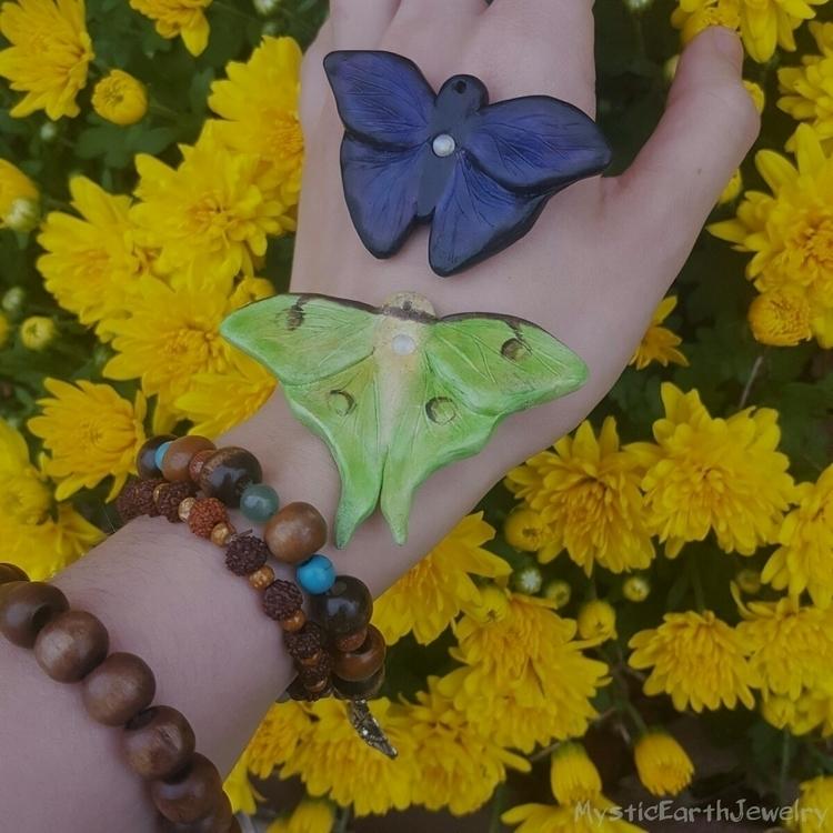 Mini necklaces!!! Luna moth ($4 - mysticearth   ello